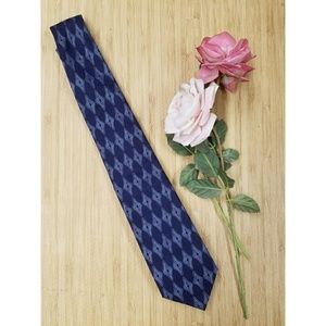 Gianfranco Ferre Dark Blue Diamond Tie Mens